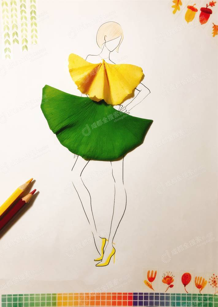一个像夏天,一个像秋天~ 直到初冬时节 一朵银杏扎成的玫瑰花 堆叠而图片