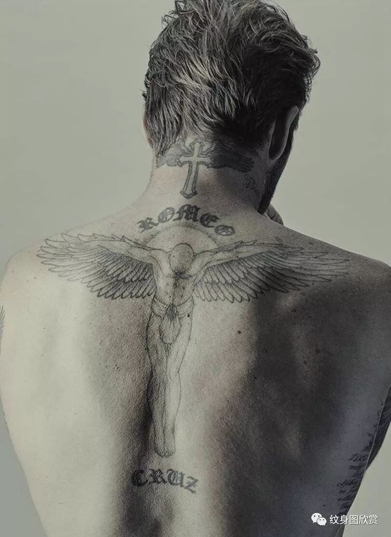 明星纹身 -【大卫·贝克汉姆】纹身图片图片