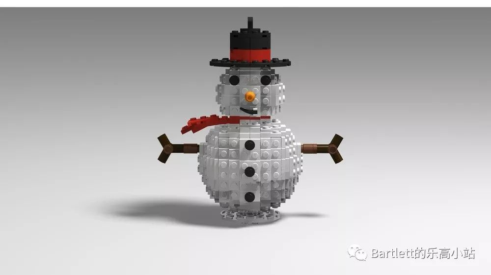 乐高moc之圣诞雪人图纸分享
