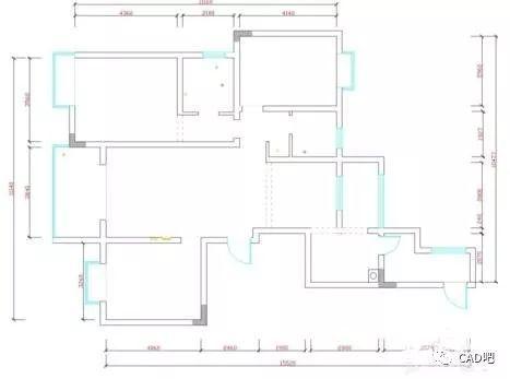 cad如何绘制墙跟窗的平面图