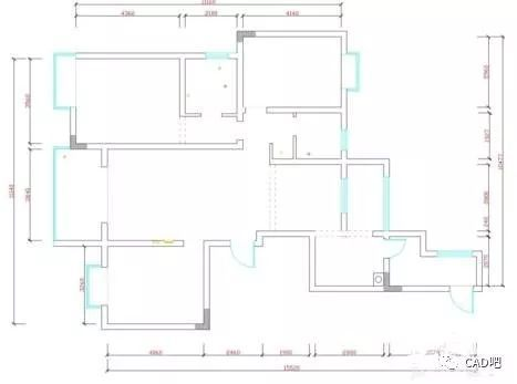 cad如何绘制墙跟窗的平面图图片