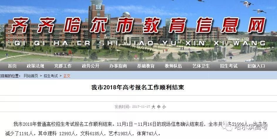 22756人高考报名,全省第二!一本上线率2017年黑龙江是多少?看完放心了!