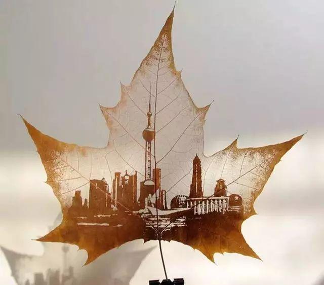树叶手工制作船