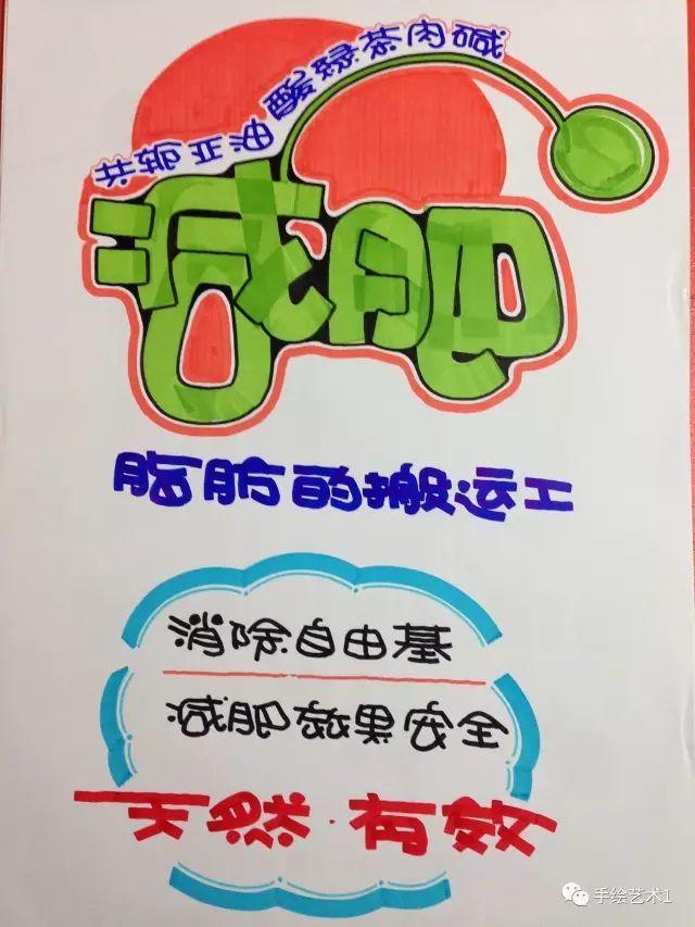 【手绘pop】关于减肥的海报作品