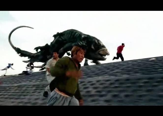 韩国国语《汉江电影》中上岸吃人的鱼怪有什么好看的伦理怪物影片图片