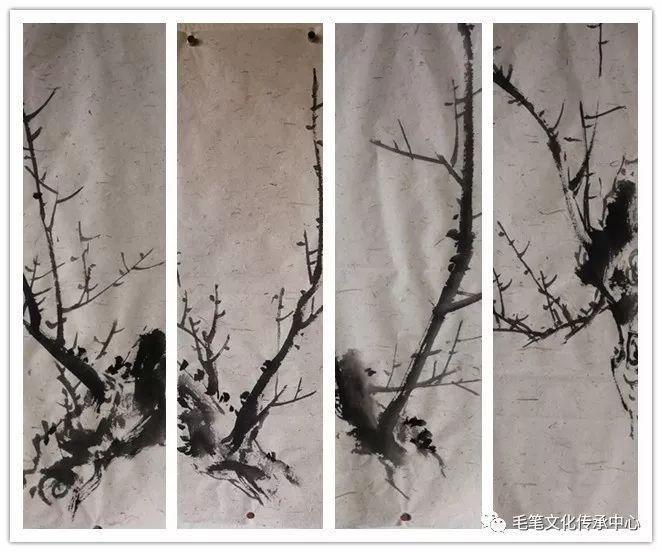 写意梅花枝干的画法