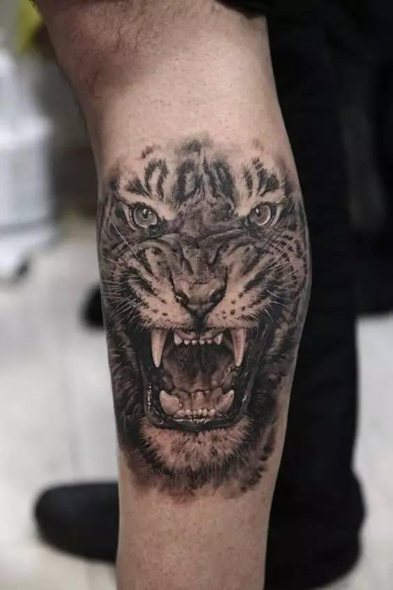 是希望自己能够像老虎一样威武勇猛,有女孩喜欢老虎纹身图,但是她们又