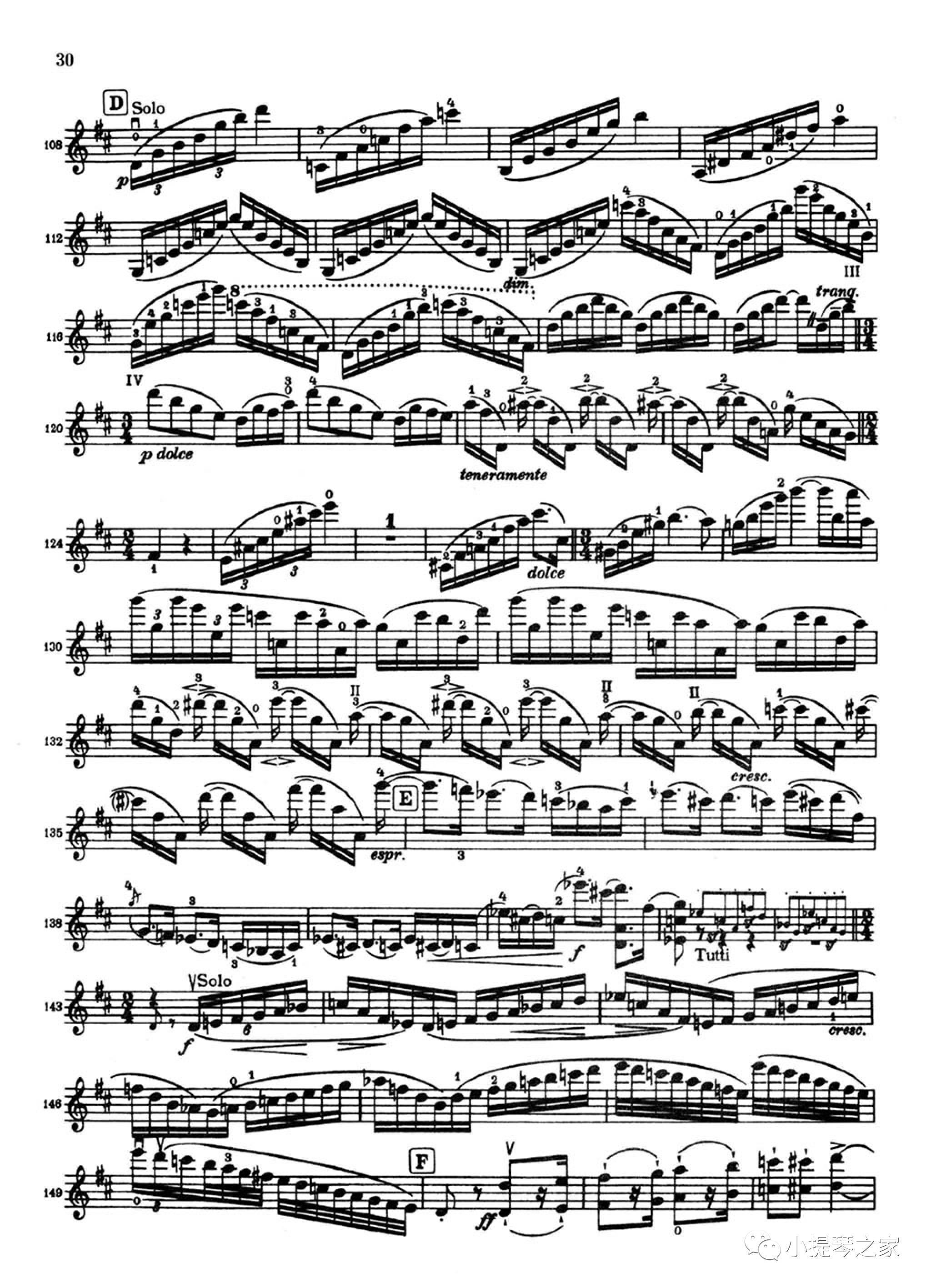 田园牧歌:珍妮杨森演奏《勃拉姆斯d大调小提琴协奏曲》附小提琴谱图片