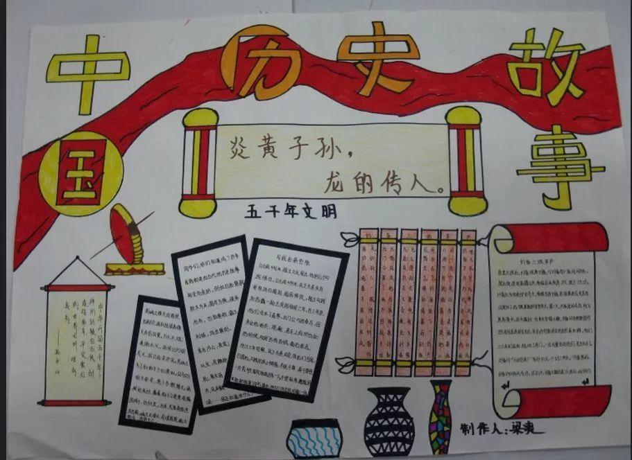 学习英雄事迹手抄报 中国的 历史手抄报图片 中国古代明君手抄报