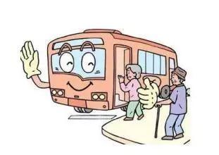 在这个时段乘公交车,老人可能碰上车内拥挤上不了车,车上找不着座位图片
