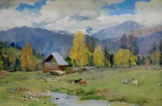 新疆名纯手绘油画