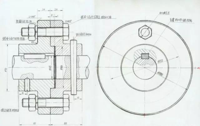 黑白手绘的cad模型图纸,每个细节都值得关注.