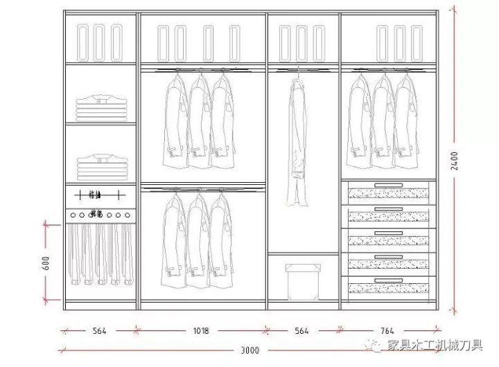 CAD家具图库衣柜设计图,轻松实现家具衣柜图绘制