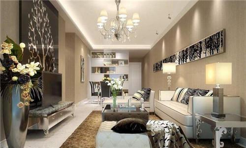 客厅样板房装修效果图 白领最爱的时尚靓丽样板间