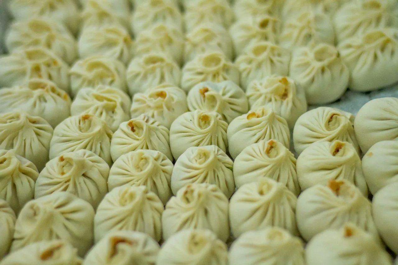 老板纯手工制作的饺子