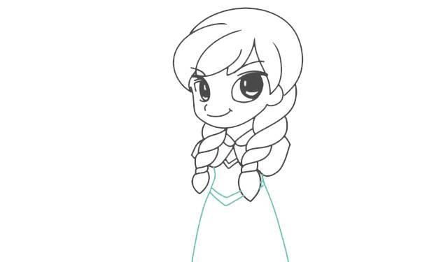 每日一画 冰雪奇缘之 安娜 简笔画,魔法公主哦