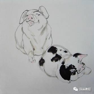 国画猪_画牛与画猪国画技法(特别详细~)