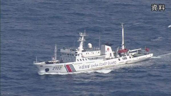 中国海警船钓鱼岛周边巡航执法,竟遭日方无理警告和持续监视