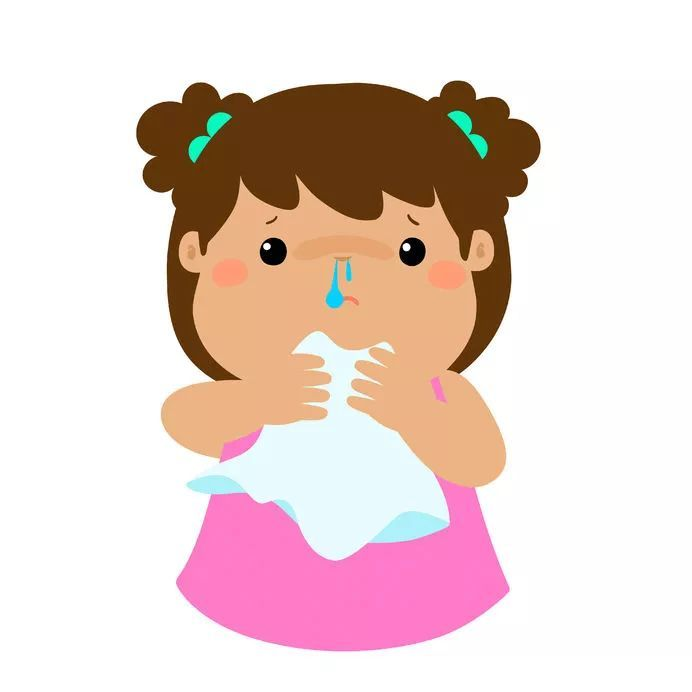 孩子又开始流鼻涕,打喷嚏,现在有时一连能打十几个,鼻子也经常堵塞图片
