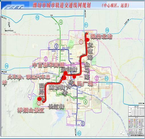 潍坊城市轨道交通规划来了,共有7条线路