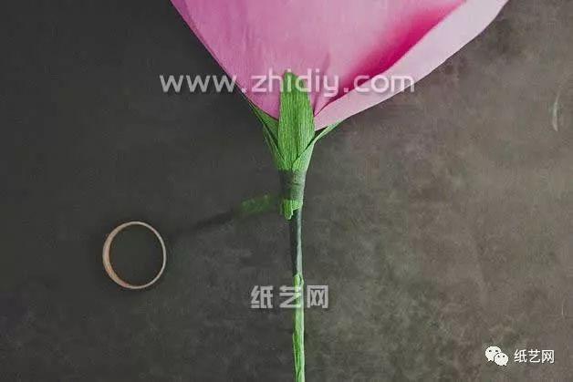 超大纸玫瑰手工diy制作教程