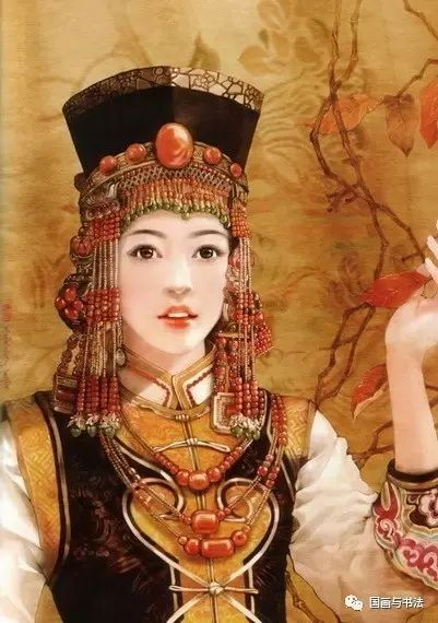中国56个民族工笔画美女,惊艳唯美!