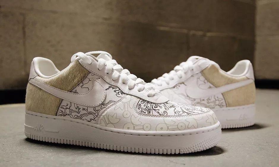 手绘图案设计 鞋子af1