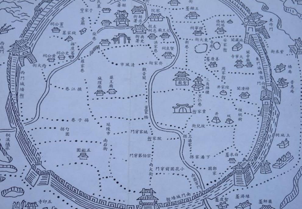 桐城地图_道光桐城续修县志城区图