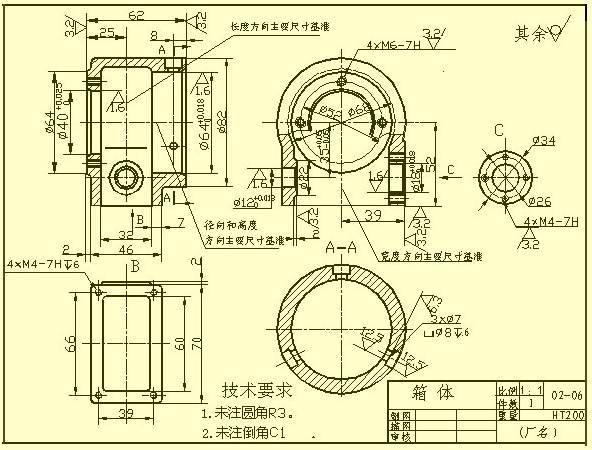 机械设计中的尺寸标注,看懂复杂机械图纸!