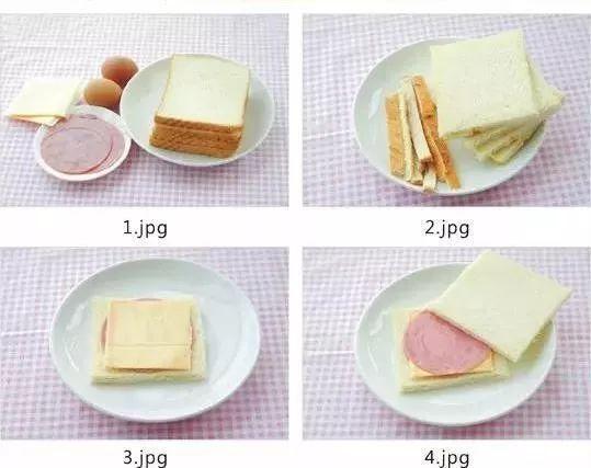 土司、火腿、鸡蛋、奶酪这些材料就可以了。