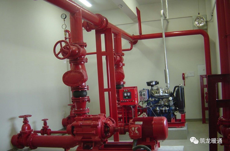 消防自动喷淋系统由洒水喷头,报警阀组,水流报警装置(水流指示或压力图片