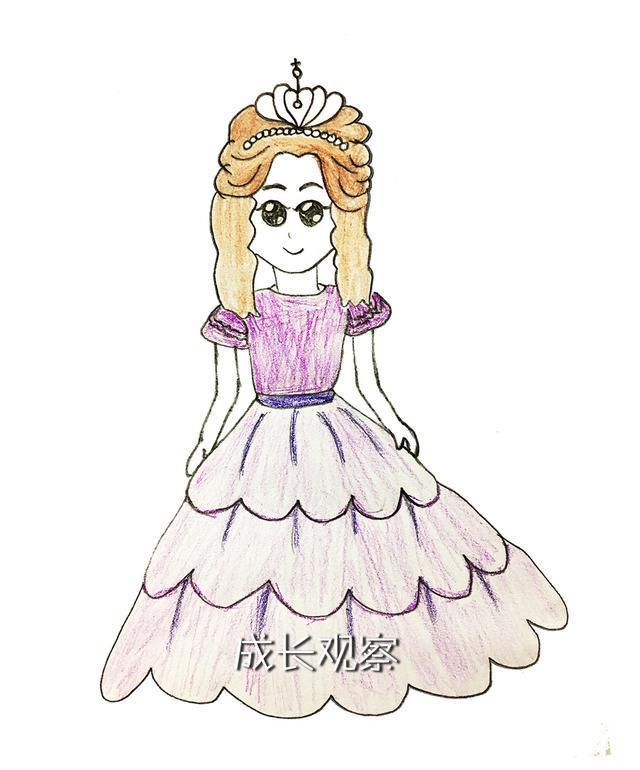 每个女孩都有一个公主梦,先给你一个公主简笔画,动手吧图片
