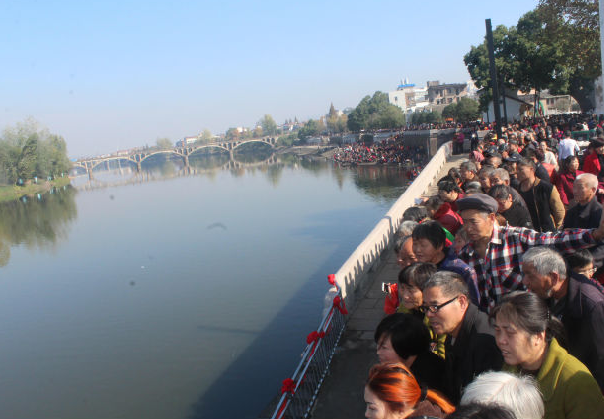 民族 民俗 义乌上河图-佛堂万善桥