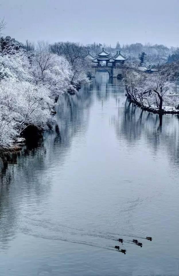 中国10大古镇的冬装照,美的那么有诗意,如痴如醉……