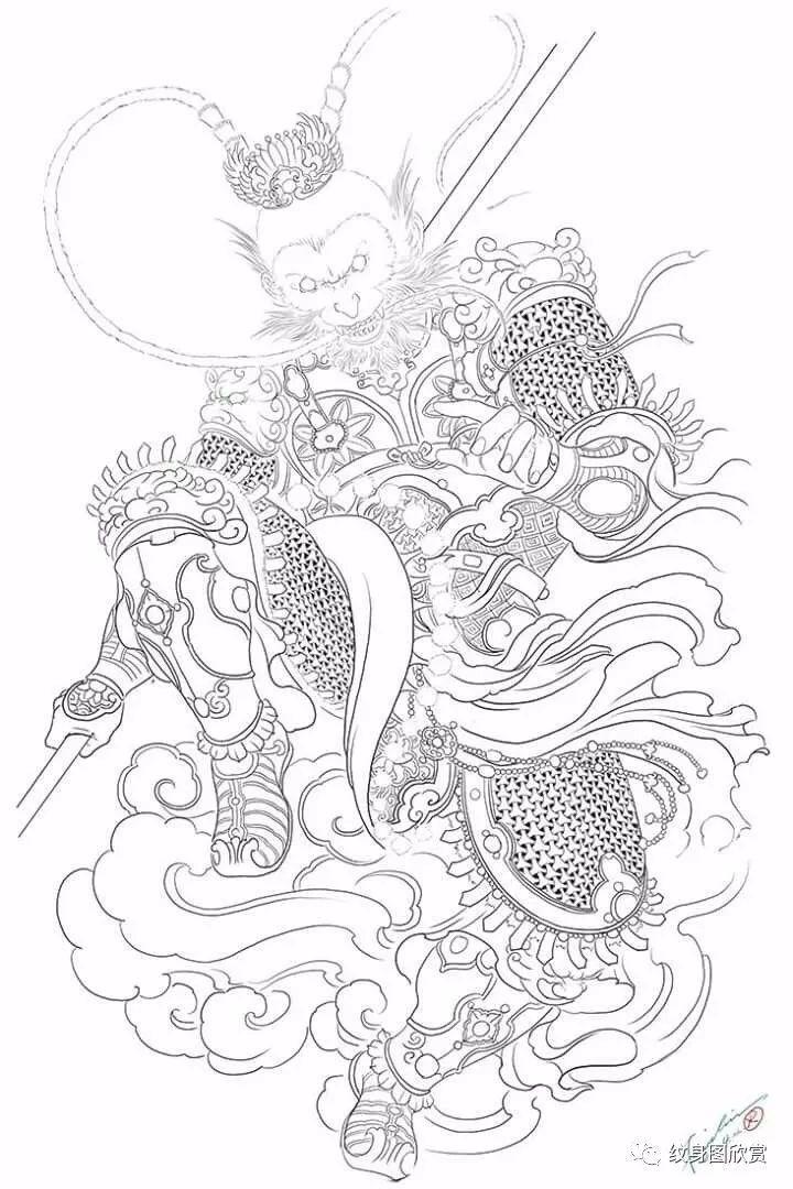 纹身手稿 - 齐天大圣纹身手稿