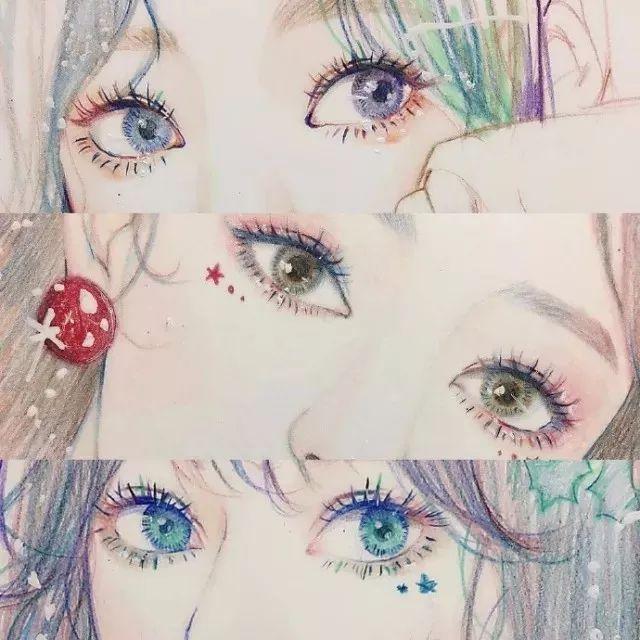马克笔 马克笔可以说是 画动漫人物眼睛必备了 眼睛是心灵之窗 所有