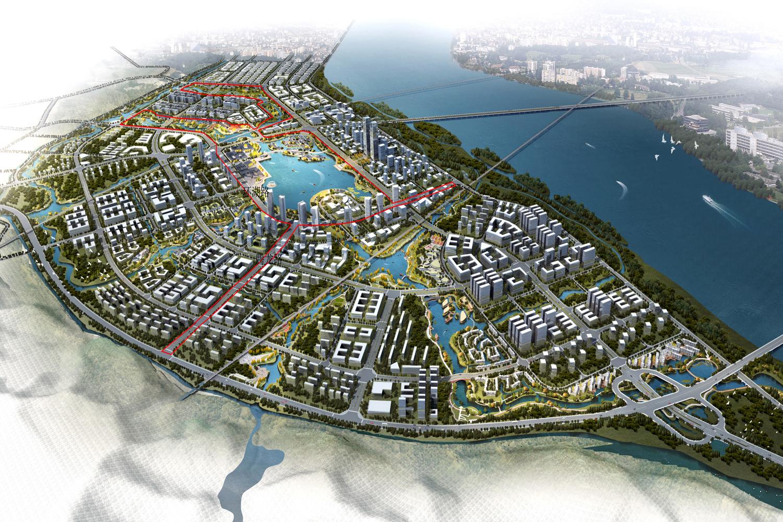 十九大代表走进中建一局遂宁海绵城市项目