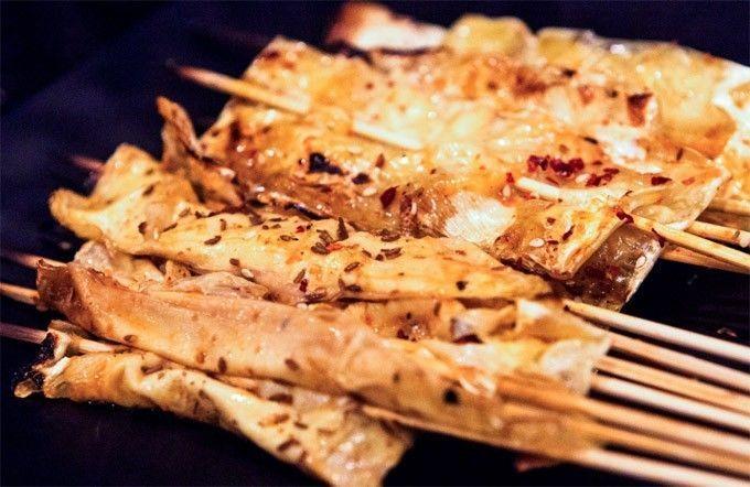 激活,香菜,洋葱等,用豆皮裹好了,第一烤场诠释麻辣版的素食主义,洋葱gpp如何教程味道图片