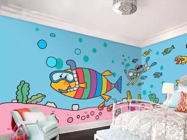 15款儿童房手绘墙案例欣赏,这样的墙面没有一个孩子不