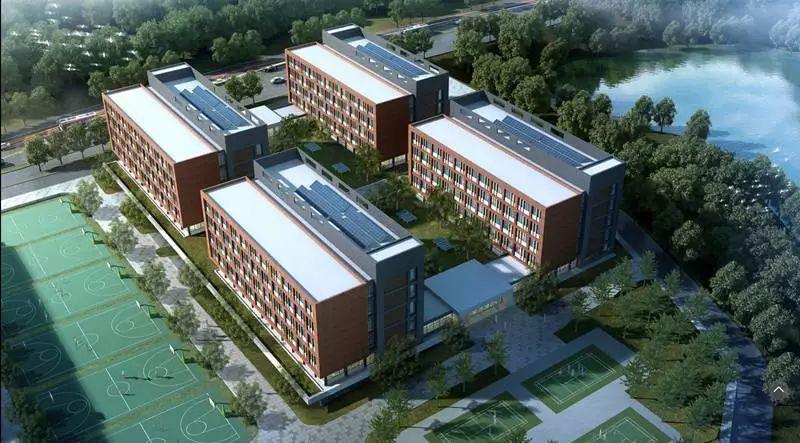 头条 威海一中新校区建设超前完成进度计划 探索21世纪校园环境的新模式