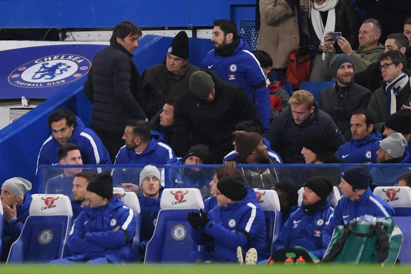 切尔西:德国国脚进球救主,孔蒂化身咆哮帝被罚上看台!