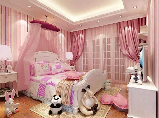 这几个粉色系儿童房设计,超有爱!