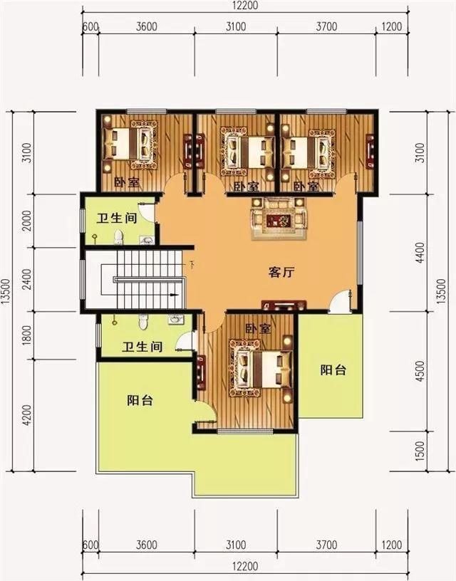 五间别墅施工设计图