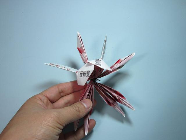用钱折纸莲花 莲花折纸详细图解教程