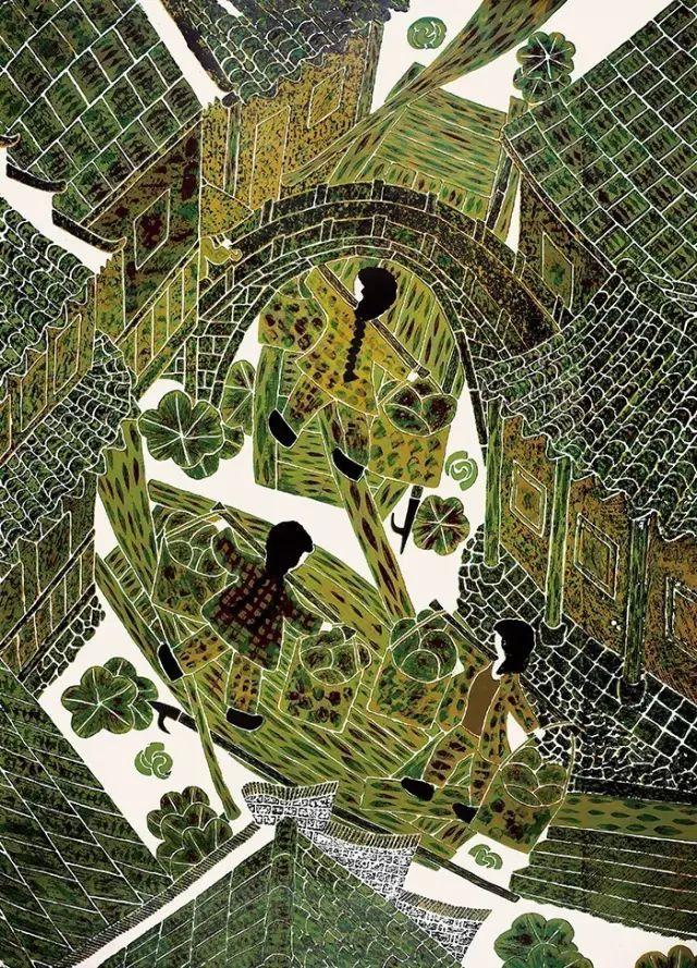 中国农民画发端于农村,与古老的乡风民俗和传统民间艺术有着深厚的