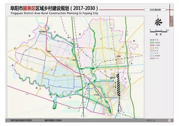 颍泉区综合交通规划应与交通发展现状、土地利用规划、国民经济与社会发展规划等规划内容协调一致,针对乡村产业和扩张型居民点未来的发展需求,对于区域内国道、省道、县道、乡道有针对性的完善主干骨架及扩张型居民点的道路建设,提升乡村重点发展地区参与区域经济活动的能力