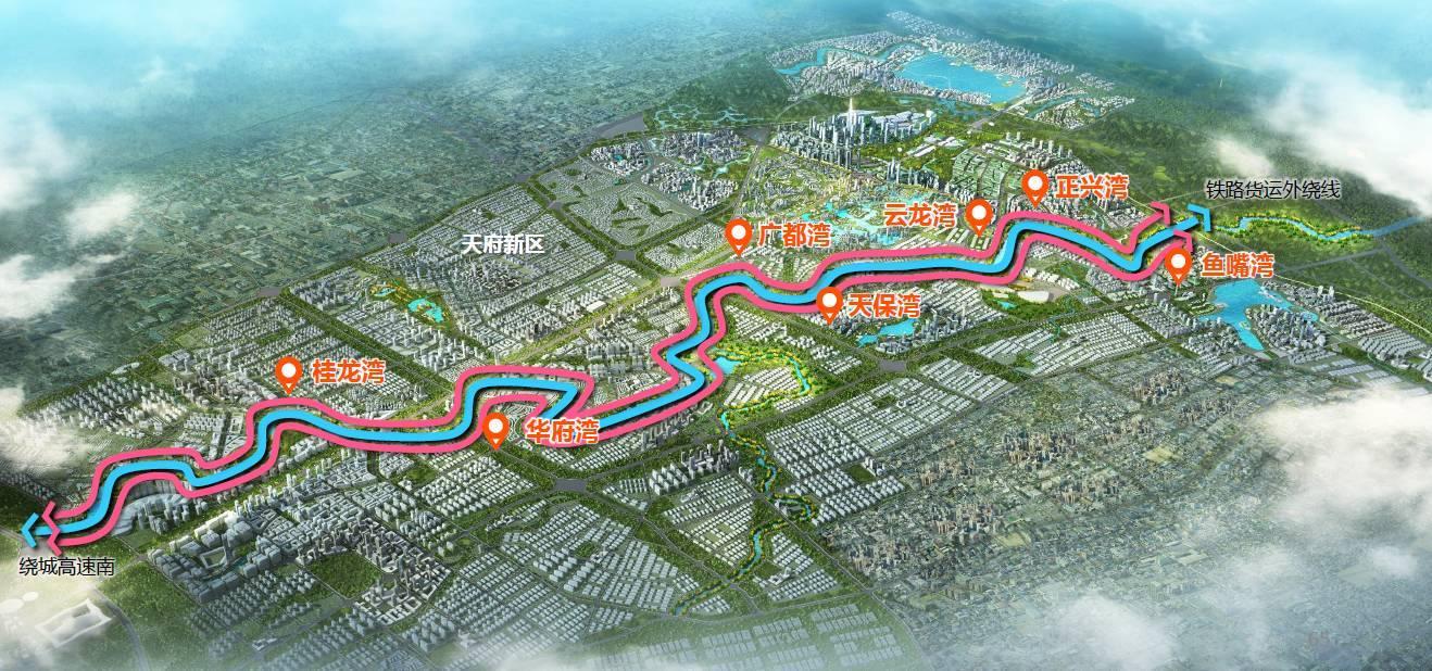 创意天府段 天府创意段为绕城高速南-铁路货运外绕线,河道长26公里.图片