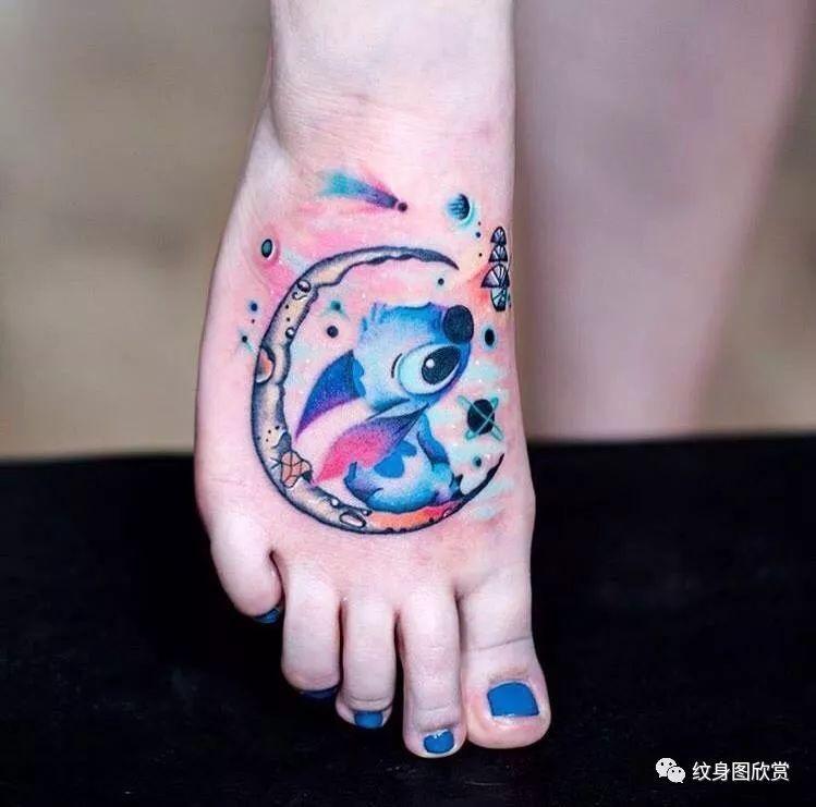 卡通纹身 - 星际宝贝史迪仔纹身图片图片