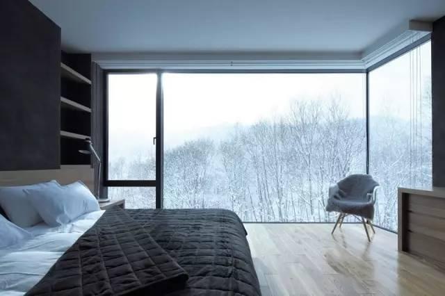 冬天落地窗风景