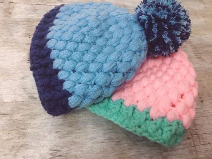 可爱毛球宝宝帽子编织教程,成人也可以带哦